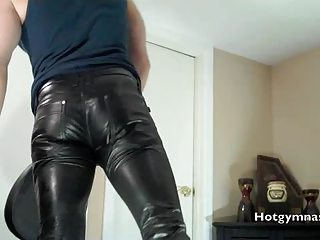 leather white cream with muscle stud into