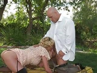 curly blond prettie inside ebony pantyhose giving