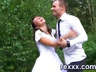 awesome russian bride is gangbanged by fiancee