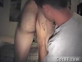 fellow getting a fellatio from gay porno