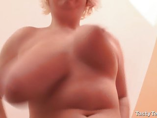 tasty terry moans during  nipple spurting