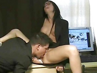 desperate assistant own is vagina suck by boss