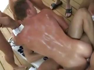 a gay fuck swimmingpool side man group fuck