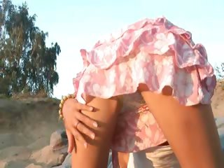 doll 18 years granny amateur loly on shore