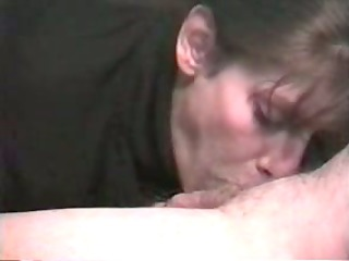 brunette relishes giant male