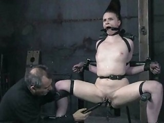 hot super chick inside bondage deed