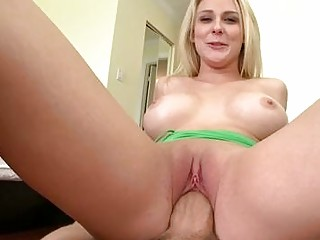 horny albino with astonishing curves driving huge
