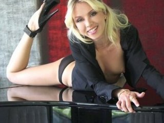 get nude on a piano by blond adult movie star