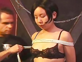 her sexy breast punish to black