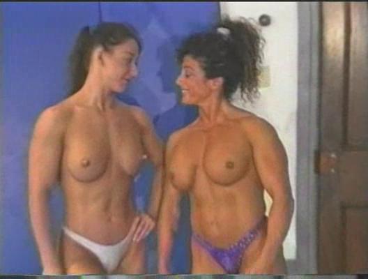 topless wrestling  fitness girl vs feminine