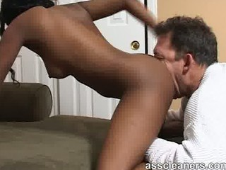 black housewife is slutty as she takes her bottom