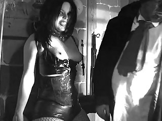 Fetish Girl in Dungeon forced to suck part 1