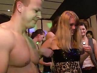 sizzling cfnm fellatios with bar whores