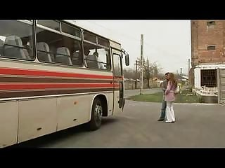 mad pair banging into a bus
